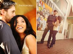 Leah and Marc's Engagement Session on Piedmont Street in Oakland, CA