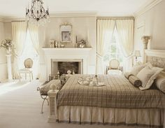 White and faintly tinted taupe, Traditional Home Magazine