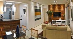 Reforma aposta em linhas horizontais, vidro e integração de ambientes para melhor aproveitar os 60m² de área - Casa e Decoração - UOL Mulher...