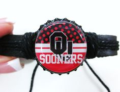 OU University of Oklahoma Bottlecap Adjustable Black by mboulet, $6.50