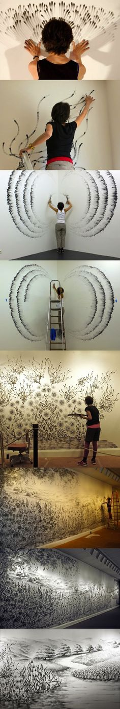 finger paintings by Judith Brauni