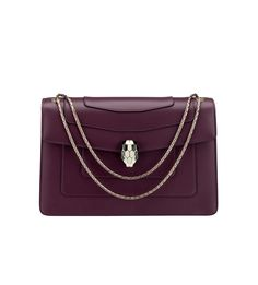 BVLGARI is famous for its glamorous gemstone jewelry, luxury watches, perfumes and leather goods. Bvlgari Serpenti, Italian Jewelry, Bvlgari Bags, Fashion Bags, Fashion Outfits, Stylish Nails, Cloth Bags, Luxury Bags, Gemstone Jewelry