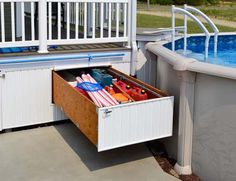 Get your outdoor space unused gallery below, below deck, etc. The drawer is a patio ideal storage system that makes your objects accessible without the hassle. A product Pylex Products International. Under Deck Storage, Pool Storage, Under Decks, Above Ground Pool Decks, Kallax, Backyard Swing Sets, Backyard Retreat, Diy Deck, Patio Decks