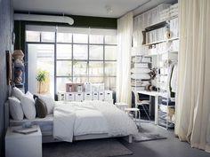 Schlafzimmer mit Arbeitsplatz - Mit Ikea kleine Wohnungen einrichten 3 - [SCHÖNER WOHNEN]