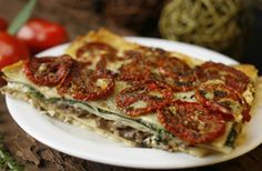 lasagna  (sundried tomatoes, spinach, and mushrooms) by alan benchoam, via Flickr