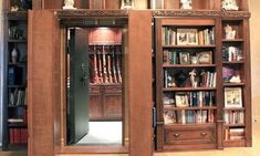 Library with a gun vault
