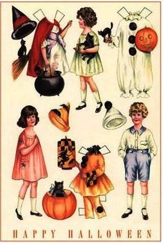 Halloween paper dolls | Vintage Halloween Outfits for Paper Dolls | Flickr - Photo Sharing!