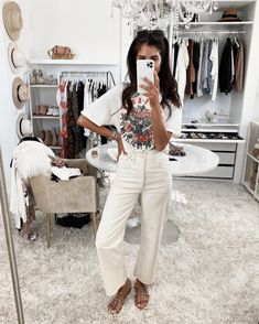 my closet, home decor, interior design, neutral outfit, neutral home. All White Outfit, Neutral Outfit, White Outfits, White Jeans Outfit Summer, White Pants, Casual Summer Outfits, Spring Outfits, Cool Outfits, Fashion Outfits