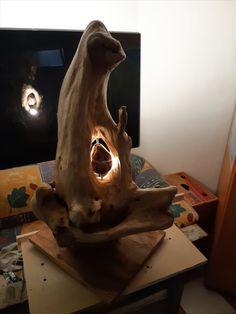 Driftwood Art, Table Lamp, Lighting, Home Decor, Kunst, Table Lamps, Decoration Home, Room Decor, Lights