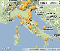 Map of campsites in Italy - Map of the best Italian camping sites Camping Bungalow Village - http://www.topcampings.it/en/top_camping_italy_map.html