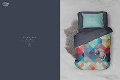 Single Bed Linen Mockup by dennysmockups on @creativemarket