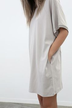 11bb7c52fd A grownup version of the borrowed-from-the-boy tee in your sleepwear  drawer. The Pima Sleep Dress is an oversized