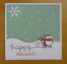 lawn fawn winter penguin | The little penguin is quick and easy to colour, and the touch of ...