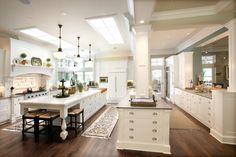 skylight over kitchen  Wisconsin lake home. Johnson Design, Oconomowoc.