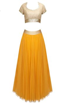 Abhinav Mishra presents Yellow embroidered lehenga set available only at Pernia's Pop-Up Shop. Simple Elegant Dresses, Beautiful Dresses, Traditional Fashion, Traditional Outfits, Indian Dresses, Indian Outfits, Lengha Choli, Anarkali, Desi Clothes