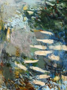 """Krista Harris, SCATTERING ASHES 48""""h x 36""""w, acrylic and mixed media on canvas"""
