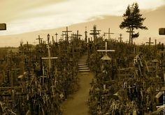 The Hill of Crosses in Lithuania near Siaulai