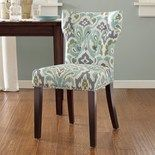 Keep it classic with this Madison Park Emilia tufted back dining chair. Coastal Furniture, Dining Room Furniture, Coastal Decor, Coastal Bedding, Modern Coastal, Apartment Furniture, Coastal Style, Teal Dining Chairs, Accent Chairs