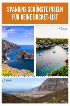 Mallorca ist mit seinen Buchten eine der schönsten Inseln Spaniens, aber hast du Menorca schon einmal besucht? Die kleine Schwester kann auf jeden Fall mithalten und bietet deutlich mehr Naturschutzgebiete. Auf den Kanaren solltest du neben den großen Inseln auch kleinere Inseln wie La Palma und El Hierro mal besuchen - deutlich exklusiver und mit einzigartiger Natur. Schau für alle Infos in unseren Artikel und folge uns um nichts mehr zu verpassen! #spanien #reisetipps #sommerurlaub #frühling Ushuaia, Menorca, Road Trip, Water, Outdoor, Maspalomas, La Gomera, Sevilla, Canary Islands