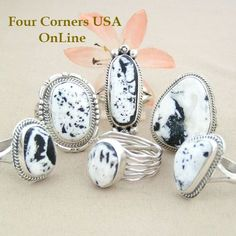 Sacred White Buffalo Turquoise Rings Four Corners USA OnLine Native American Silver Jewelry http://stores.fourcornersusaonline.com/sacred-white-buffalo-rings/