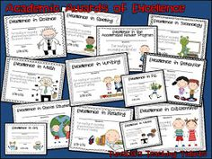 Tunstall's Teaching Tidbits: Academic Awards for Elementary Students