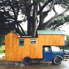 Truck house.
