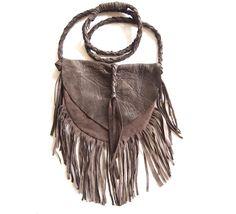 Half Moon Fringe Leather Purse. $140.00, via Etsy.