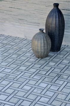 Parker stone mosaic in polished Bardiglio and Calacatta Tia | New Ravenna
