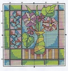 Stained glass style cross stitch