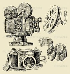 camaras fotograficas dibujadas a mano - Buscar con Google