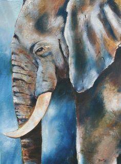 Elephant Acrylic Paintings On Canvas                              … #OilPaintingElephant