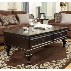 Ashley Dark Brown Coffee Table w/ 2 Drawers ***Living Room***