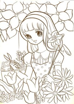 aeromachia:  shojo-manga-no-memory:  Hi ! ;) This is few coloring pages from this vintage coloring book i bought few weeks ago,