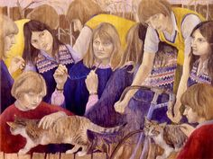 Self-Portrait with Children 1982 acrylic on panel 92 x 122 cm by © Susan Dorothea White Portrait, Children, Artist, Painting, Young Children, Boys, Headshot Photography, Kids, Artists