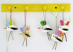 Lavoretti per la scuola dell'infanzia sulla primavera - Uccellini fai da te