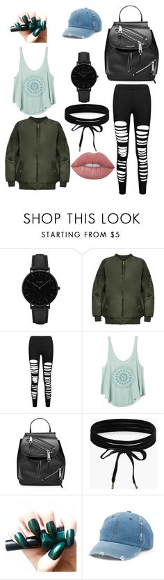 """""""Causal Wednesday night"""" by oliviaballard04 ❤ liked on Polyvore featuring CLUSE, WearAll, RVCA, Marc Jacobs, Boohoo, Mudd and Lime Crime"""