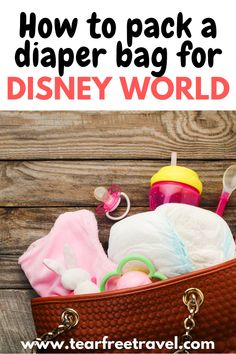 When going to a Disney park, there are already so many things to pack in your Disney day bag, but what about packing a diaper bag for Disney World? You don't want to carry a suitcase with you to the park, but you need to be prepared! Here is how to pack a diaper bag for Disney so you can have a magical trip to Disney with a baby.