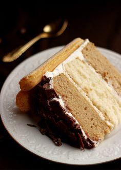 With the amount of tiramisu  recipes  I have  on here , a tiramisu cake was just waiting to happen. Unfortunately, now that it's happene...