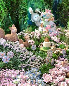 Peter Rabbit Cake, First Birthday Cupcakes, Birthday Party Decorations, First Birthdays, Garden Sculpture, Outdoor Decor, Instagram, Garden Birthday Cake, Fun Hairstyles