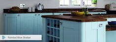 Trend Painted Blue Shaker. High Quality Kitchen from West London Kitchen Design
