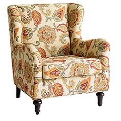 Hibiscus Wing Chair - Jacobean - Pier One, of all places.  Know just where I'd put this...