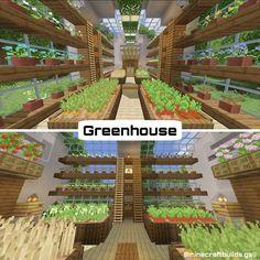 Minecraft Greenhouse, Minecraft House Plans, Minecraft Garden, Minecraft Cottage, Minecraft Houses Survival, Cute Minecraft Houses, Minecraft House Tutorials, Minecraft Room, Minecraft House Designs