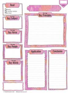 Free bible journaling worksheet printable, download color or black and white for coloring #biblejournaling