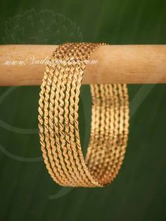 Gold Plated Bangles in Indian Design Bracelet Buy Online - 8 pieces