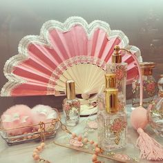 The perfume house of Caron has been around for over one hundred years. A small but respected entity, it was created in 1904 by Ernest Daltroff, a chemist from a family of perfume artists. Boudoir, Princess Aesthetic, Pink Aesthetic, Aesthetic Vintage, Vintage Vanity, Vintage Pink, Pink Vanity, Vanity Set, Caron Perfume