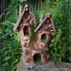 *+*Mystickal Faerie Folke*+*... Woodland Fairy Apartment... By Artist Lucinda Claire Macy...
