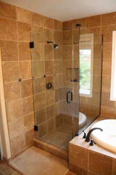 ceramic bathroom corner showers | ... Clssic Bathroom Designs Encouragement Walk In Shower With Modern Bath