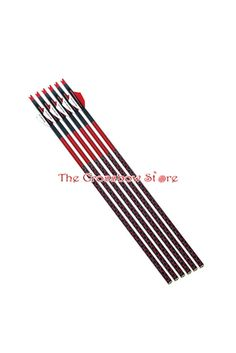 59.95 | Parker 20-Inch Red Hot High Velocity Carbon Arrows - 6/Pack #parker #archery #XBOW #CABAM #TCBS