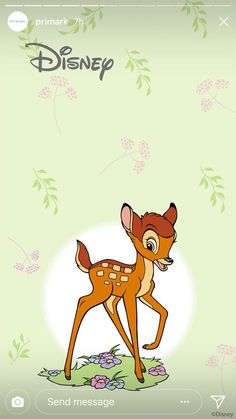 Penney's has just launched Disney wallpaper and we're ready for a home makeover Disney Pixar, Bambi Disney, Kawaii Disney, Cute Disney, Disney Cartoons, Disney Art, Disney Characters, Bambi Art, Bambi And Thumper