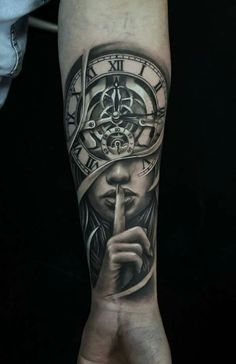 My own clock tattoo